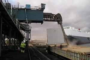 Експорт на зърно и маслодайни от пристанище Варна 14-17 април