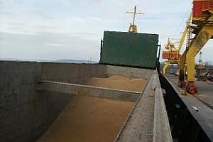 Износът на зърно от пристанище Руан спадна с 69%