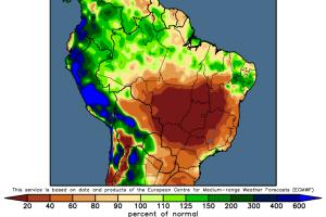 Сухи условия в Бразилия отново подкрепят зърнените пазари